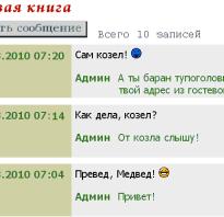 Мысль guest book html. PHP скрипты